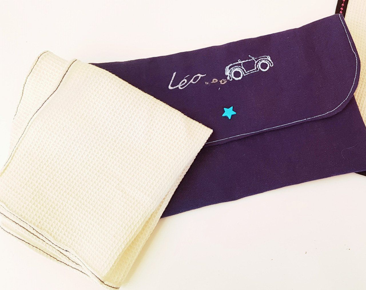 Serviette de table+pochette personalisable 100% coton biologique